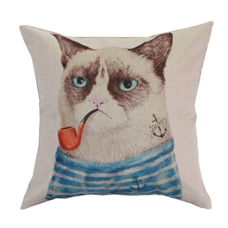 Housse oreiller grumpy cat