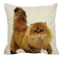 Enveloppe de coussin motif chat persan pas cher