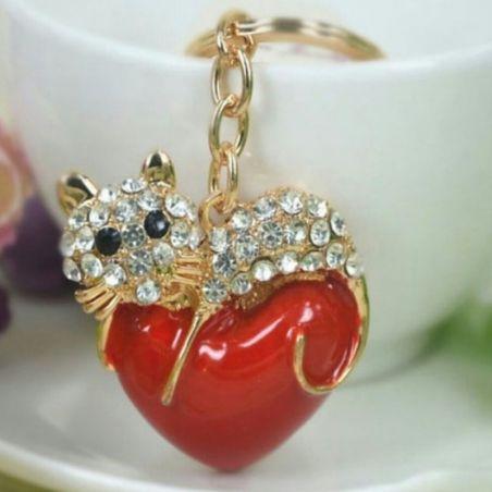 Porte clé bijoux chat