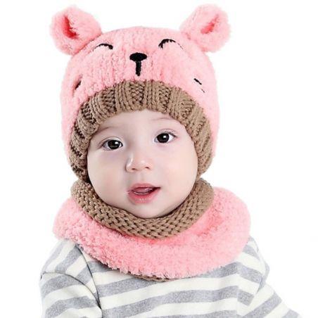 bonnet rose oreille de chat
