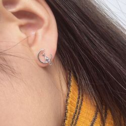 Boucles d'oreilles pour fans de chats