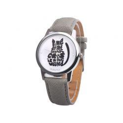 Bracelet montre chat avec phrase