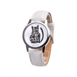 Montre bracelet blanc chat pas cher