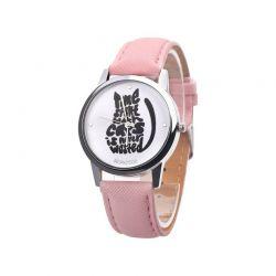 Bracelet montre chat cuir PU
