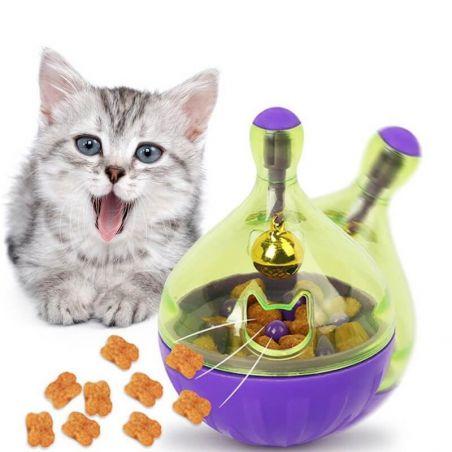 distributeur croquettes chat jeu