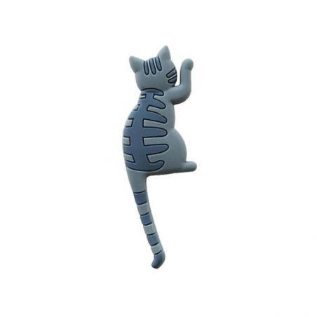Magnet chat gris pas cher