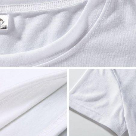 Détails tee shirt polyester imprimé chat