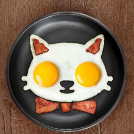 Moules à oeufs silicone forme de chat