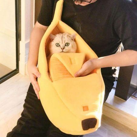 Lit banane pour chat xl