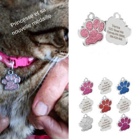 Médaille identification pattes de chat