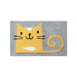 Tapis de sol chat jaune