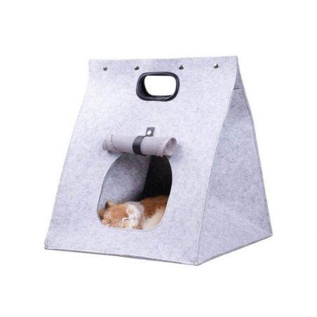 Lit chat gris