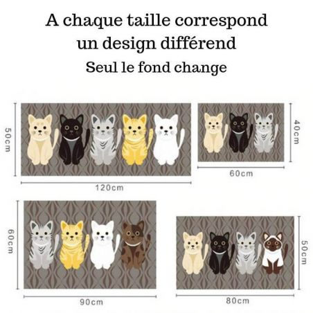 Tapis motif chat