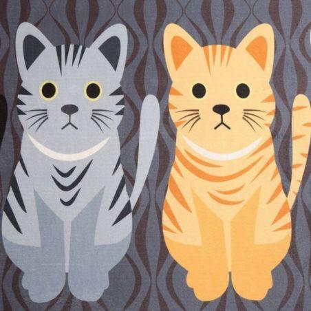 Tapis de sol multi-usage avec chats