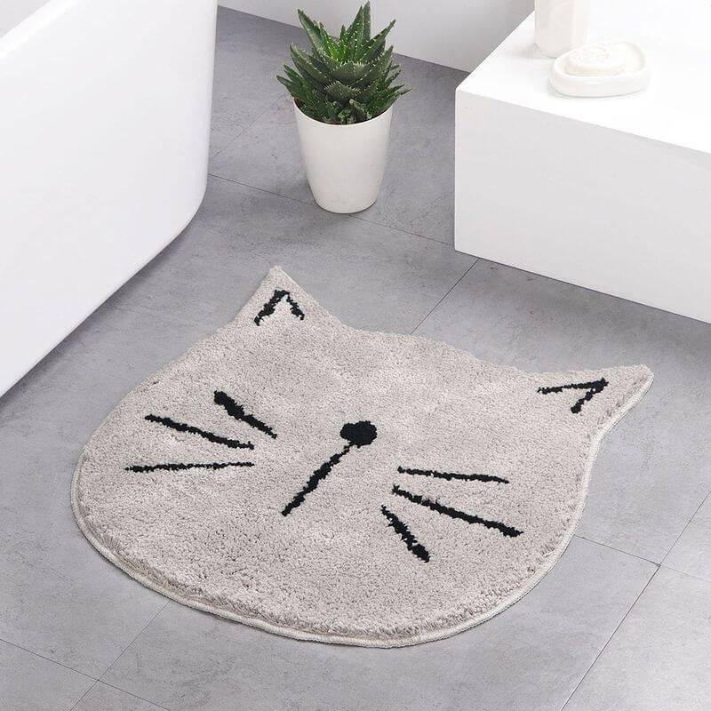 Tapis de salon motif chat