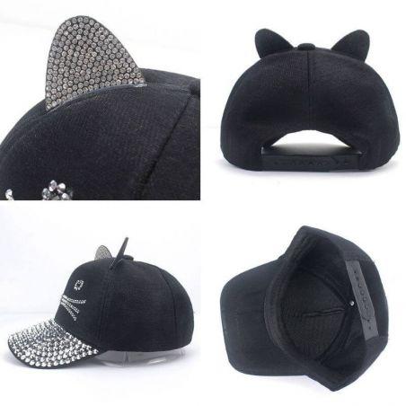 casquette femme noir
