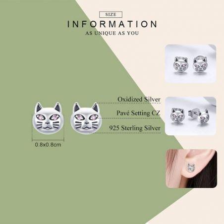 Boucle d'oreille chat