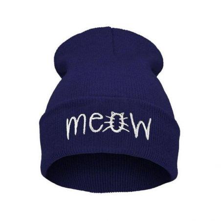 Bonnet meow bleu