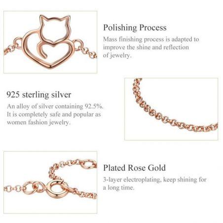 bracelet motif chat