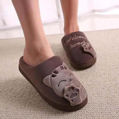chausson chat homme