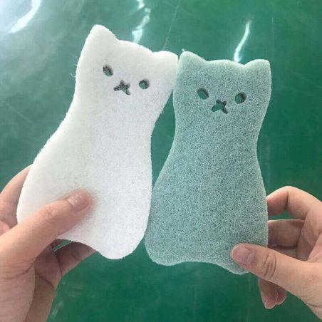 Eponge vaisselle forme de chat