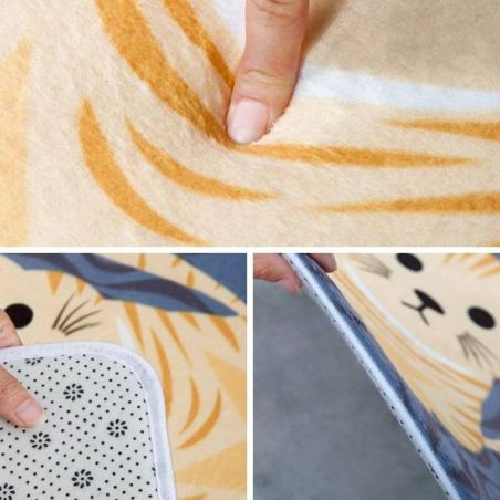 tapis devant evier motif chat