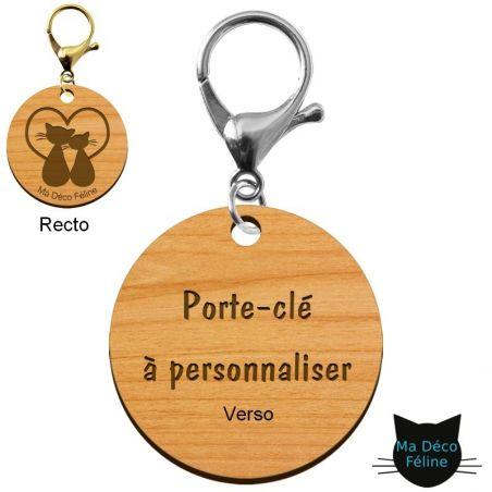 Porte clé à graver chat