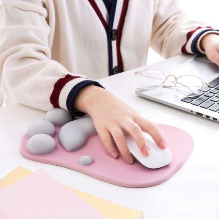 tapis de souris ergonomique rose