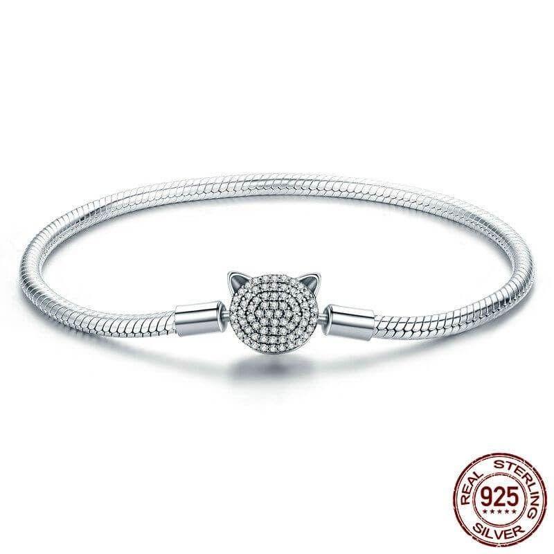 charms bracelet argent