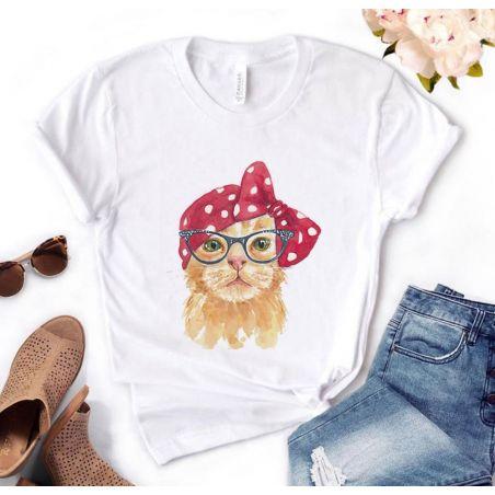 tee shirt chat femme