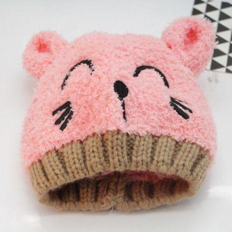 bonnet echarpe chat
