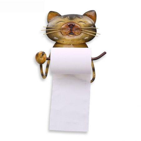 porte papier wc motif chat