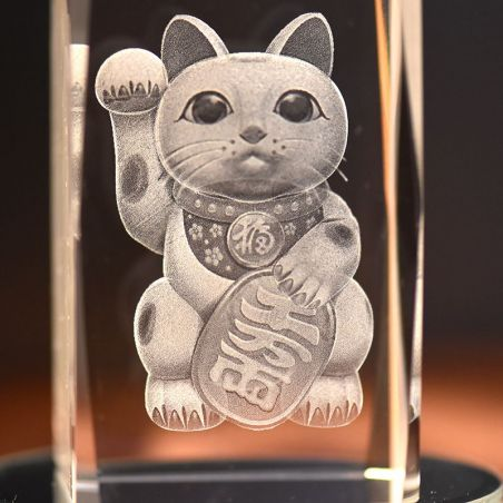figurine chat en cristal