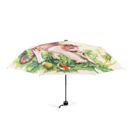 parapluie pliant motif chat