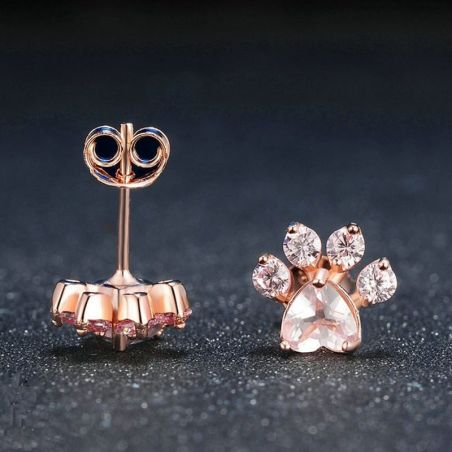 boucle d oreille chat or